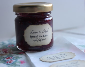 ADHESIVE LABELS with Personalised Text-Labels-Stickers-Jam Jars-Favors-Vintage Style-Favour-Wedding