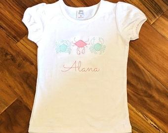 Girls Crab Trio shirt