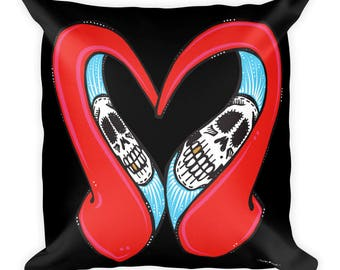 Heart Heel Square Pillow