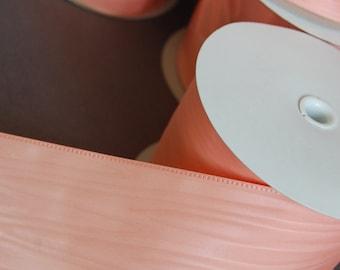 Wide Peach Moire Ribbon