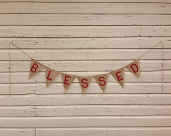 Blessed Burlap Banner