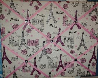 Paris Eiffel Tower sparkle french memo board, 16 x 20
