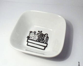 Small Hand-illustrated Dish