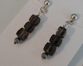 Smokey Quartz Earrings  -  #404