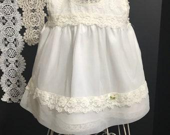 "Vintage ""Her Majesty "" 1960 Baby slip/ Petticoat"