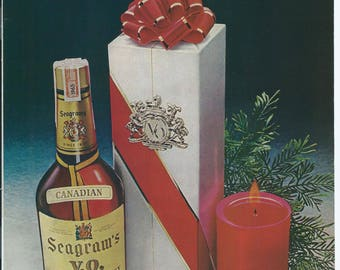 Vintage 1971 Seagram's V.O. For People Who Know How To Give Print Ad