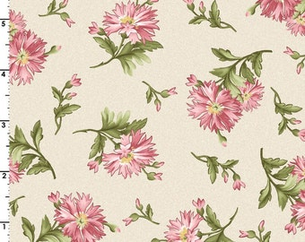 ON SALE 1/2  Yard Maywood Studios Graceful Moment's Carnations 8322-E