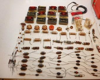 Vintage Electronic Parts - Vintage Resistors - Vintage Coils - Electonic Parts - Steam Punk