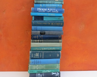 CHOOSE QUANTITY Lot vintage aqua blue teal green Hardcover Books BOOK Stack Photo prop. beach Nautical Wedding Party Home Decor. Sea Ocean