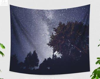 Starry Night Tapestry, Stars Wall Tapestry, Wanderlust Wall Tapestry, Space Tapestry, Milky Way Tapestry, Starry Forest Wall Tapestry, Indie
