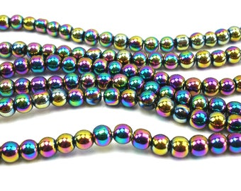 70 metallic 4 mm teal glass beads