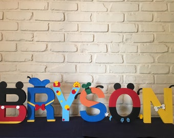 Mickey Mouse clubhouse wooden letters (Request any theme)