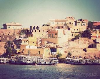 Landscape photography, Egyptian art, cheerful, fine art, travel photograph, pastels, nautical, Africa photo - Island Home