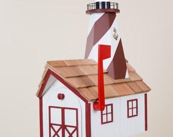 Amish Lighthouse Mailbox (White Mailbox Series)