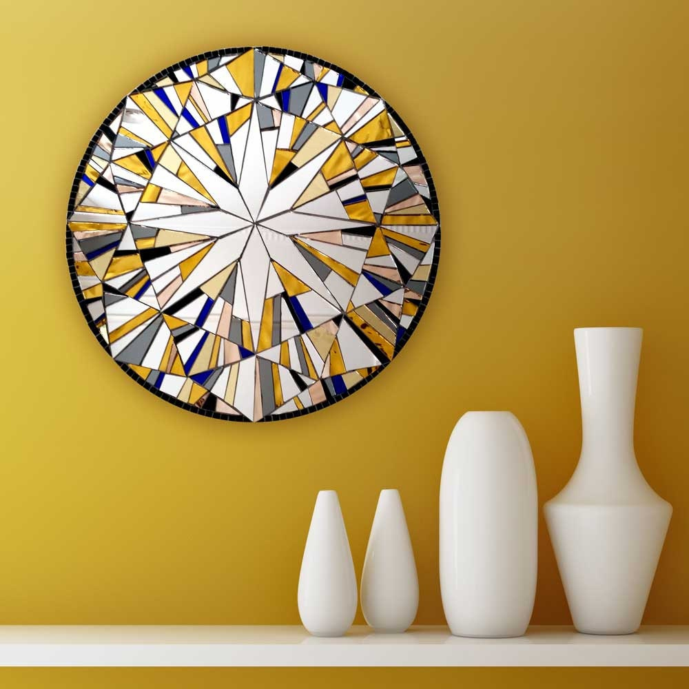 Yellow Wall Decor Round Wall Art Modern Yellow Decor