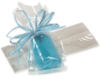 Cellophane Bags, Small Narrow, Candy Buffet Bags, Clear Candy Bags, Clear Treat Bags, Wedding Favor Bags, Treat Bags (25)