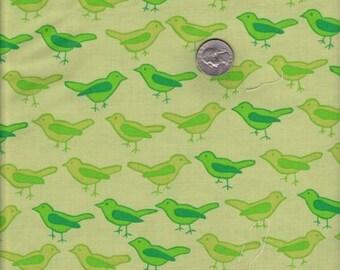 SALE - Fat quarter - Birds in Lime - Valori Wells Nest cotton quilt fabric