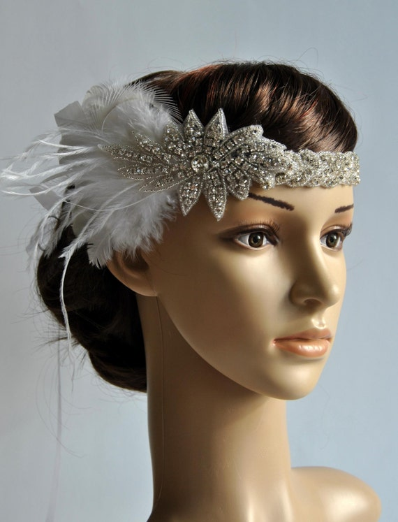 hair styles wedding 1920 s rhinestone flapper headband bridal 5287