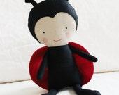 Ladybug Cloth Doll Sewing Pattern PDF Softie Toy Plushie