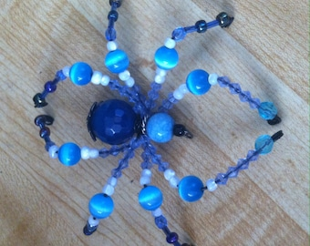 Blue Beaded Spider