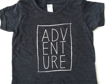 Adventure tri black/charcoal tshirt, hipster kids clothes, trendy kids clothes, toddler tshirt, hipster baby clothes, kids fashion