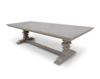 Dining Table, Table, Trestle Table, Reclaimed Wood, Rustic