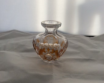 Bohemian amber over clear glass vase circa 1920