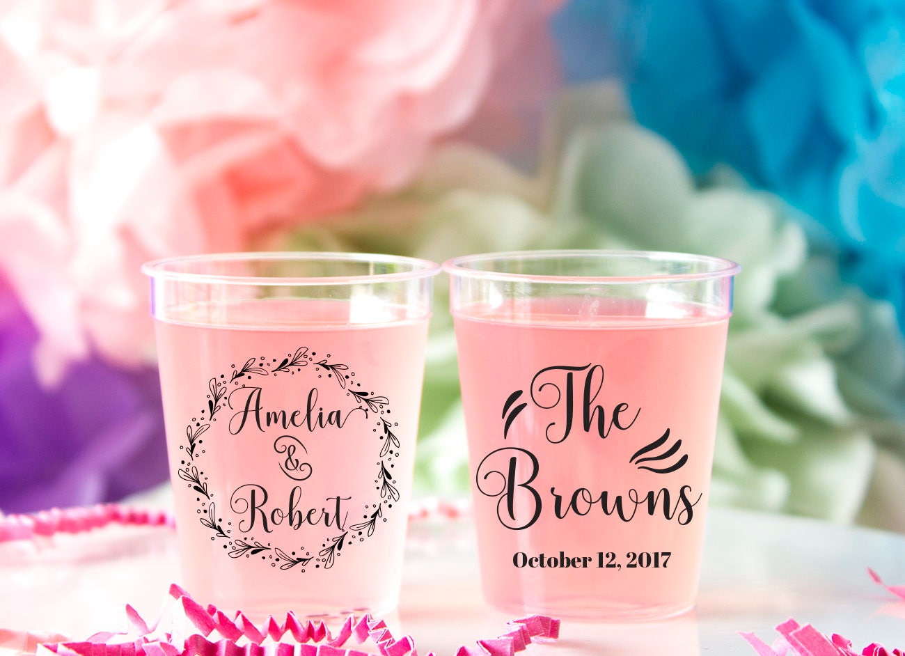 Wedding Shot Glass Plastic Custom Shot Glass Personalized