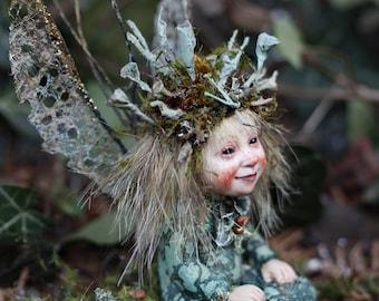 Handmade sculpture, miniature, fairy, Elfe, fairy doll, Künstlerpuppe, art doll