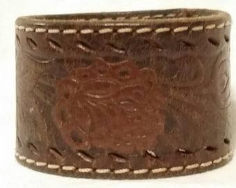 Handmade cuff, from vintage belt, SALE
