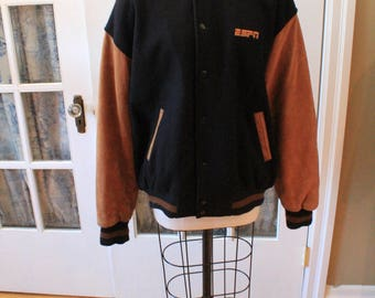 1980's Suede and Leather ESPN Varsity Jacket