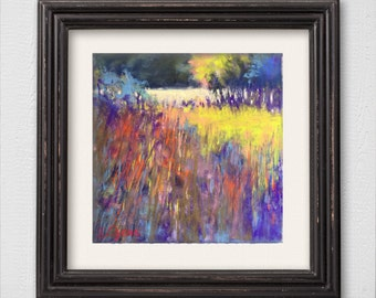 "Original Pastel Painting ""Golden Meadow"""