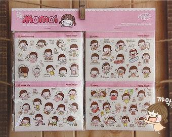 20 Sheets Momoi Stickers - Transparent Girl Sticker - Diary Sticker - Cellphone Sticker - Filofax