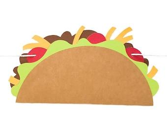 TACO BANNER - RTS Banner - Taco Garland - Taco Party - Taco Decoration - Cinco De Mayo Banner - Fiesta Banner - Fiesta Garland - Taco Bar -