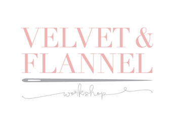 Pre-Made Logo Ready to Add Your Company Name - Style - Velvet & Flannel - Premade