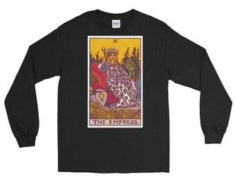 The Empress Tarot Card Long Sleeve T-Shirt Metaphysical Psychic Tee Shirt