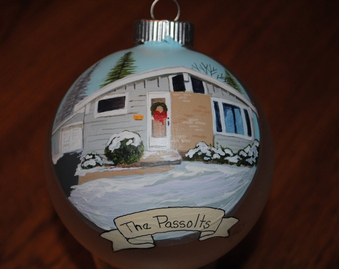 Hand painted Christmas Home ornament done from picture - sold