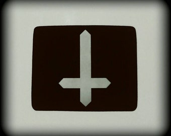 Inverted Cross Mousepad, Inverted Cross, Satanic, Satanic Computer Accessories, Satan, Pentagram, Pentagram Decor, Satanic Home Decor