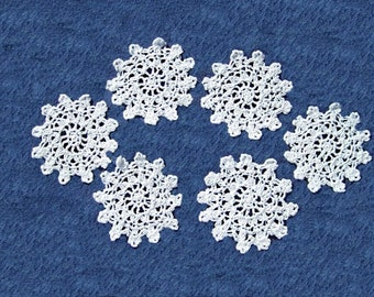 coaster or doily in a smaller 3 patterns and colors to choose handmade crochet hand made