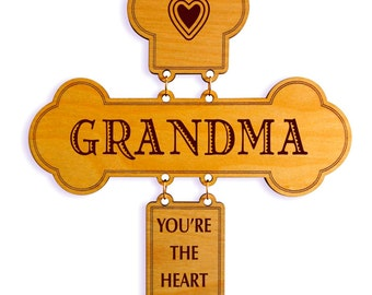 Mother's Day Gift for Grandma - Gifts for Grandmother Birthday - Grandma Wall Cross - Mothers Day from Granddaughter - Grandson