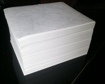 8 1/2 x 11 Bulk Tyvek Sheets 1000/lot 18lb