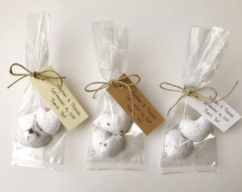 50 Organic Heart Seed Bomb Favors - plantable favors with custom color/ seed options