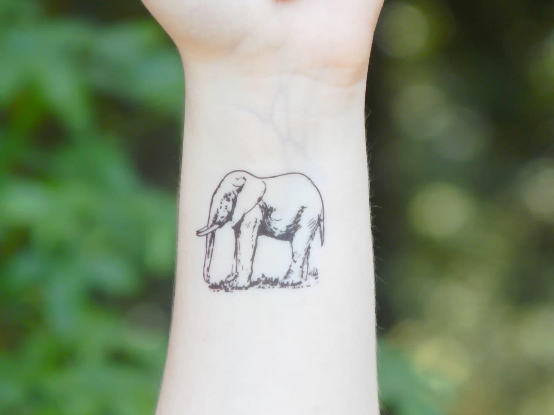 Temporary tattoo elephant tattoo animal tattoo zoom jeuxipadfo Choice Image