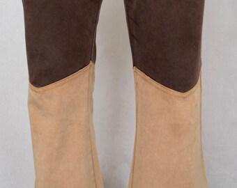 Vintage 1960's 70's Men's Velvet Ultra Suede Western Bell Bottom Hippie Rock Star Pants Size S 32 x 29