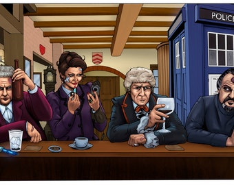DOCTOR WHO - Moffat's Pub Art Print
