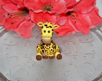 Fondant giraffe cake Etsy