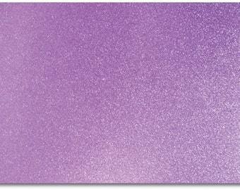 2 x A4 sheets of Premium Dovecraft Lilac Glitter Card 220 gsm