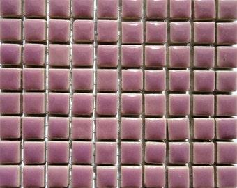 "100 MINI Lavender Purple Glazed Ceramic Mosaic Tiles 3/8""//Mosaic Supplies//Mosaic Pieces//Crafts"