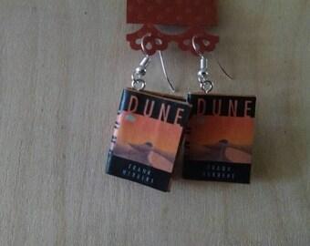 Book Earrings / Dune Book Earrings / Gift for Her / Book Lover Gift / Dune Book Jewelry / Handmade Earrings / Sci Fi Earrings / Librarian