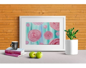 Rose addiction oil painting for interior